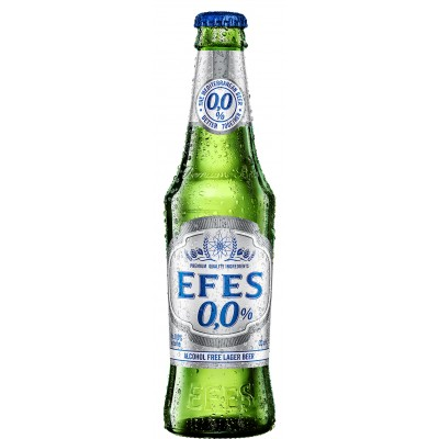 Efes Pilsener 0.0% Non-Alcoholic Beer - 330ml